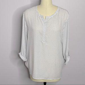 Van Heusen Polka-Dot Pullover Tunic Blouse XL